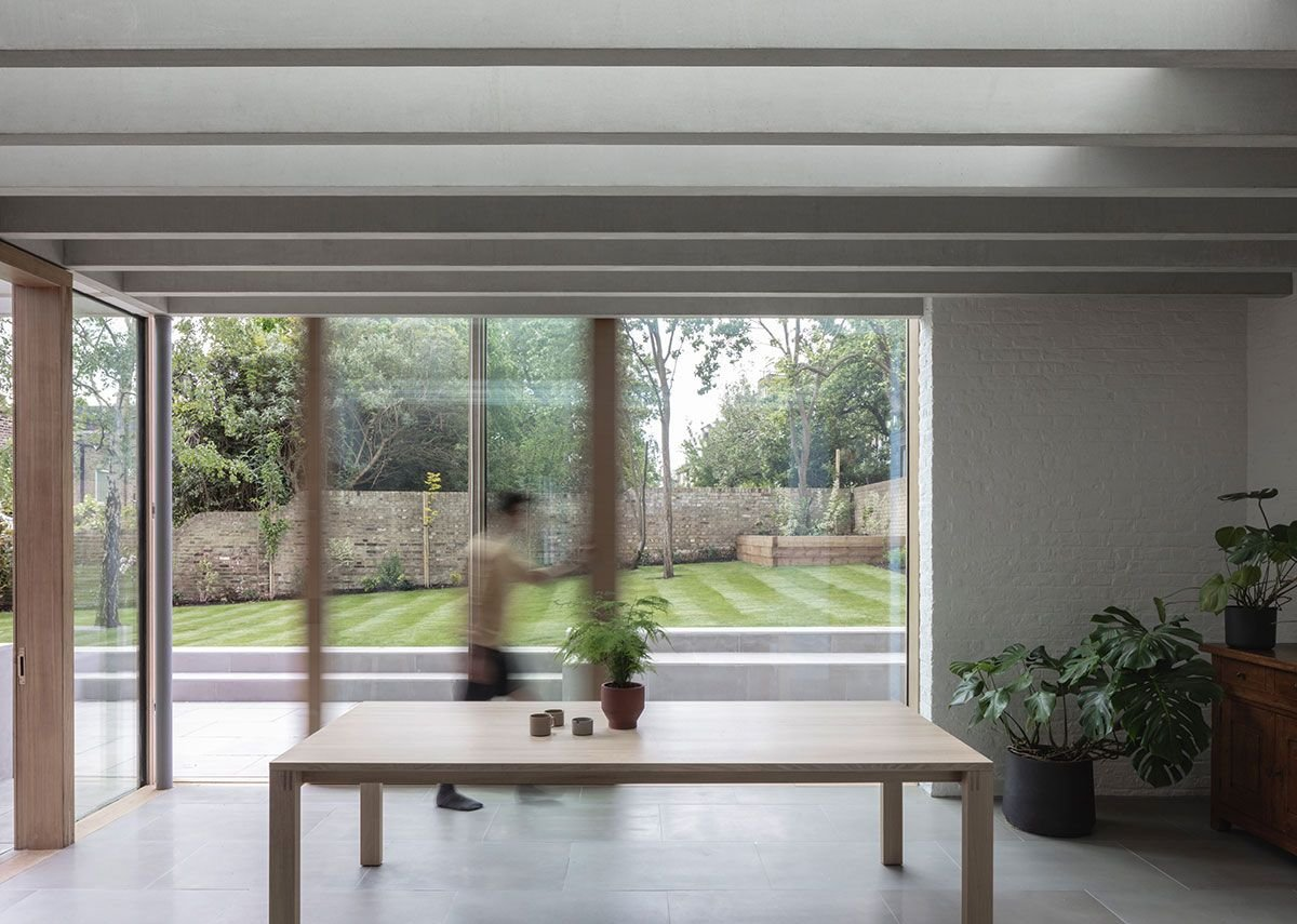 The sliding doors that connect the living space to the garden as briefed by the client to AFL.