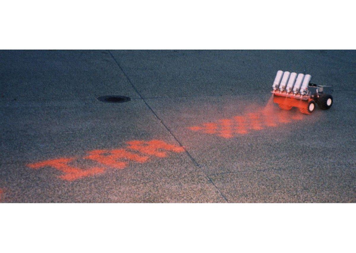 Graffiti Writer, robot for writing street graffiti, Institute for Applied Autonomy, USA.