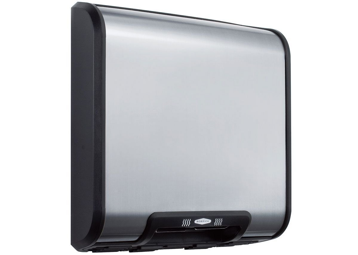 Bobrick's QuietDry Series low-profile TrimDry B-7128 hand dryer.