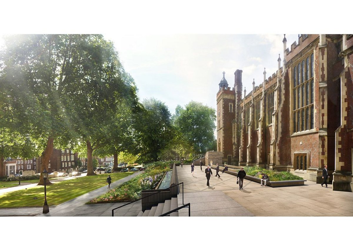 Digging down at Lincoln's Inn Great Hall – there will be a library under that terrace.