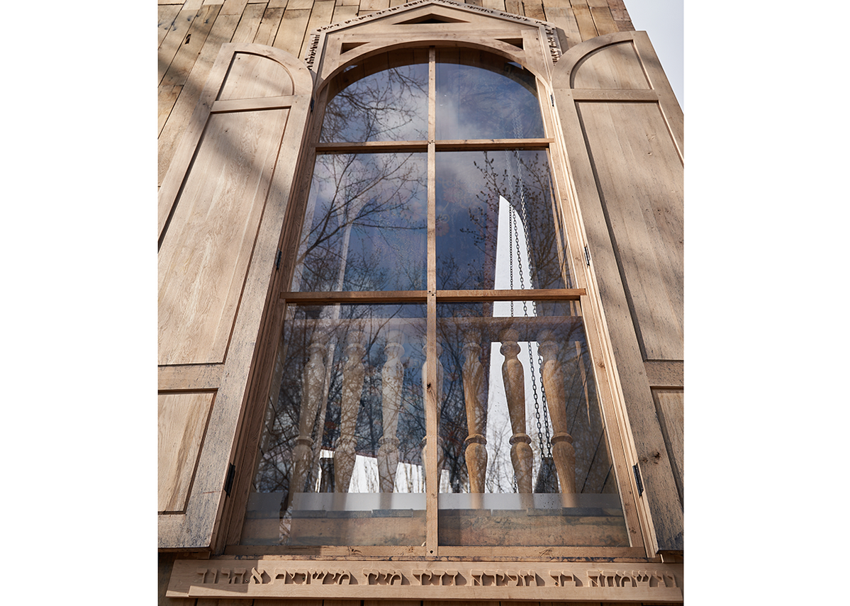 The Babyn Yar synagogue is built in old oak sourced from throughout Ukraine with an inner steel construction.