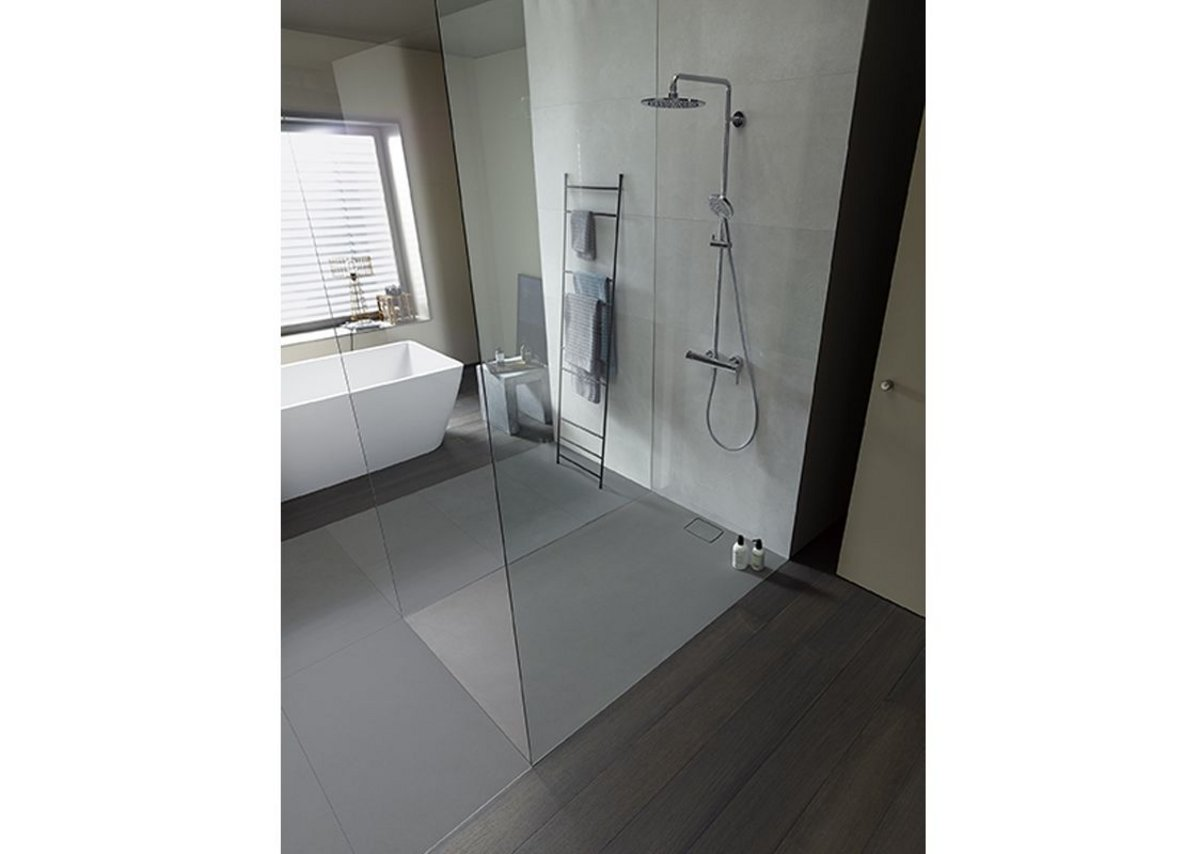 Stonetto from Duravit has a water-worn stone effect.