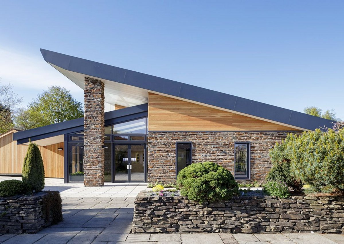 Exterior of the new Garden Room at RHS Rosemoor in Devon, designed by Peregrine Mears Architects.