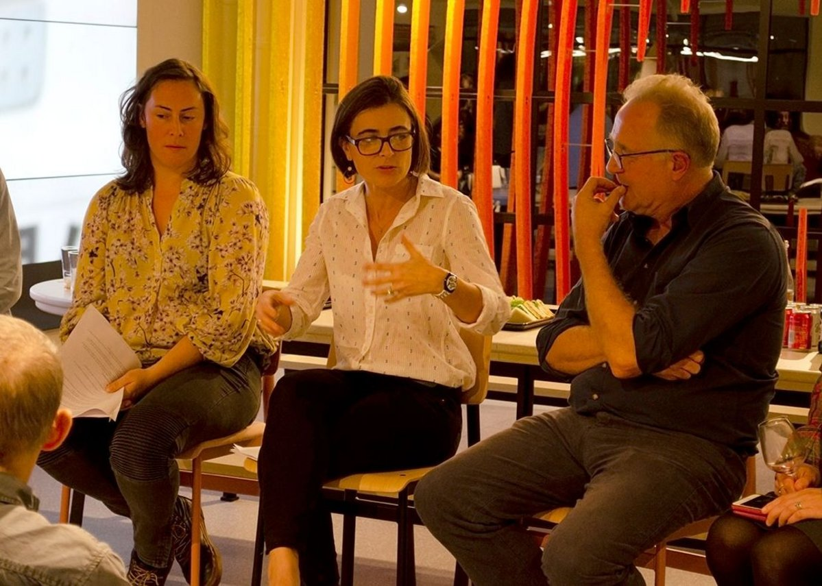 How to collaborate: Sarah Jones-Morris, director at Landsmith Associates; Felicie Krikler, director with Assael Architecture and Tim Wood, founder of Forge Architects and chair of Bankside Open Spaces Trust.