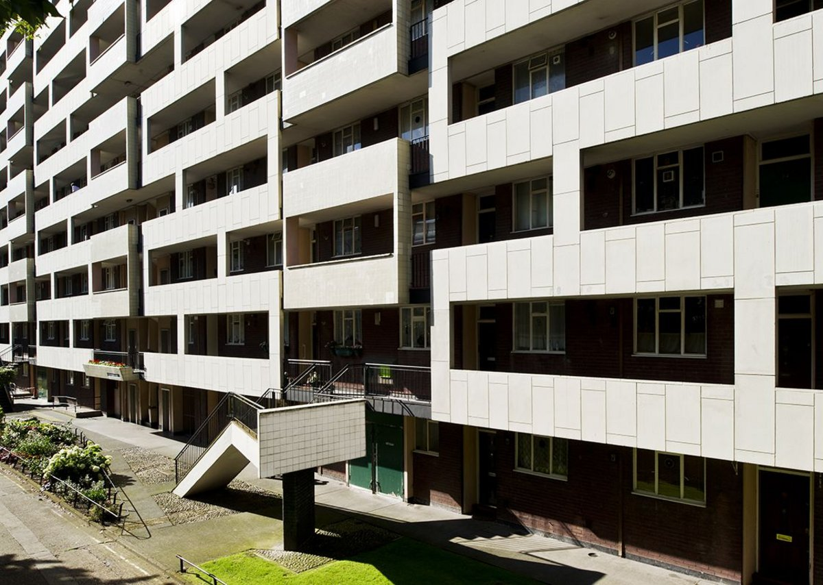 Hallfield Estate, Paddington, London. Built 1949-56, designed by Lindsay Drake and Denys Lasdun (succeeding Tecton).