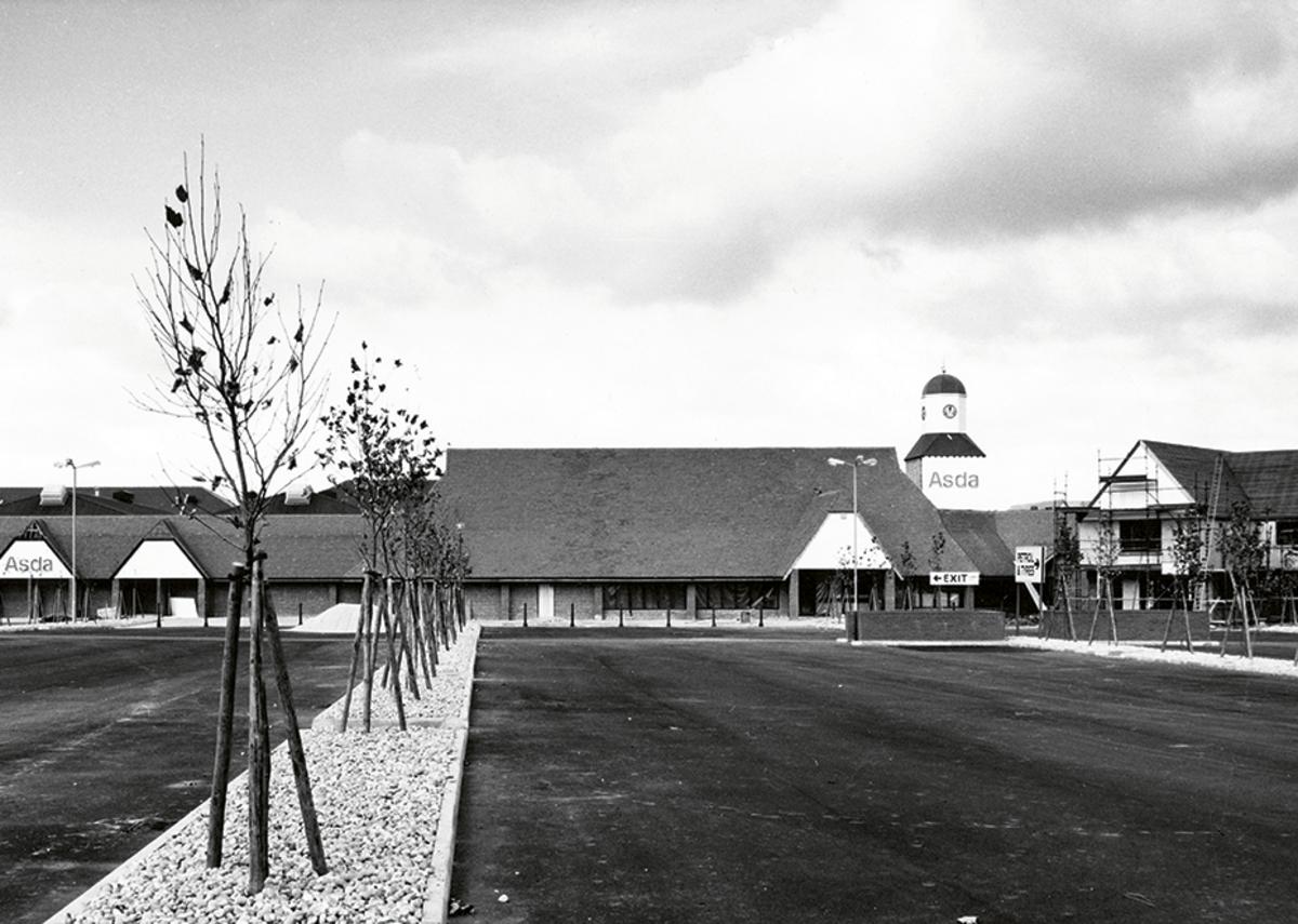 The neo-vernacular tithe barn look: Holder & Mathias' 1978 Asda at South Woodham Ferrers, Essex.