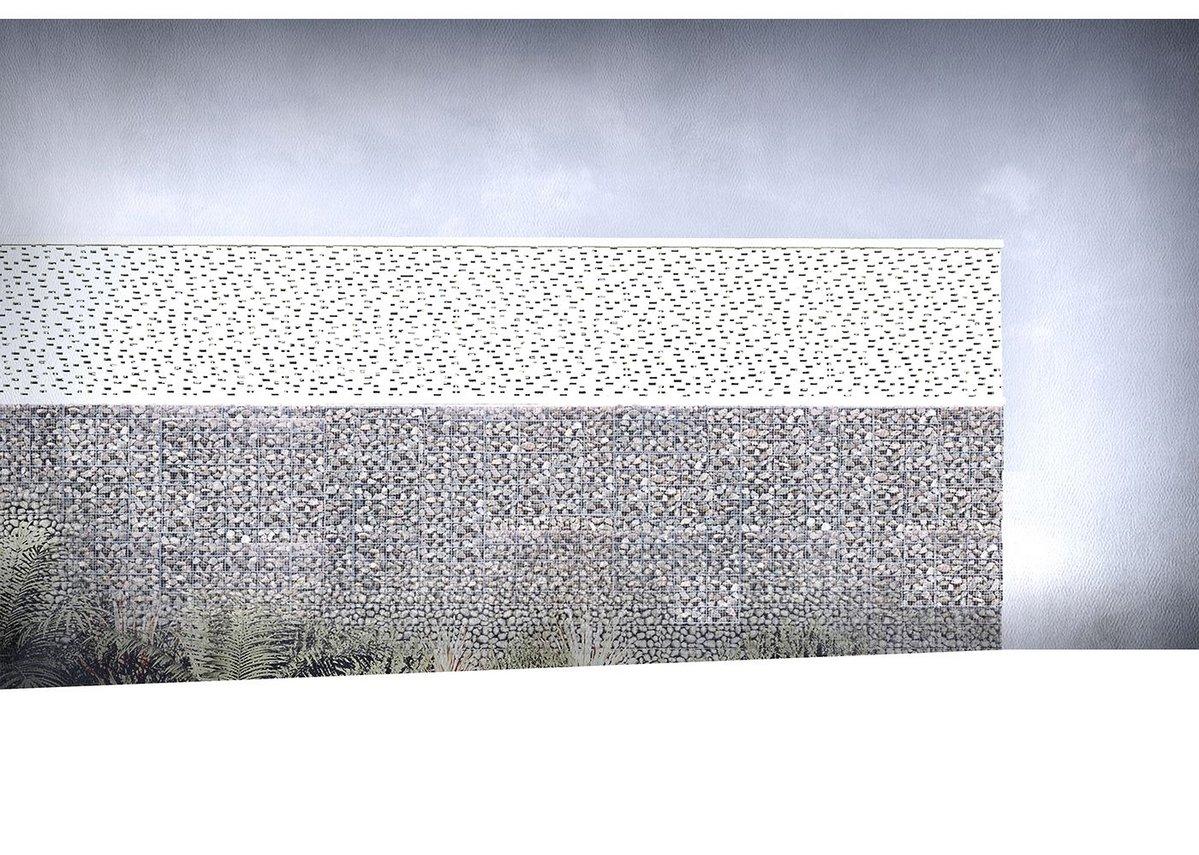 Riyadh Villa - South wall day elevation.