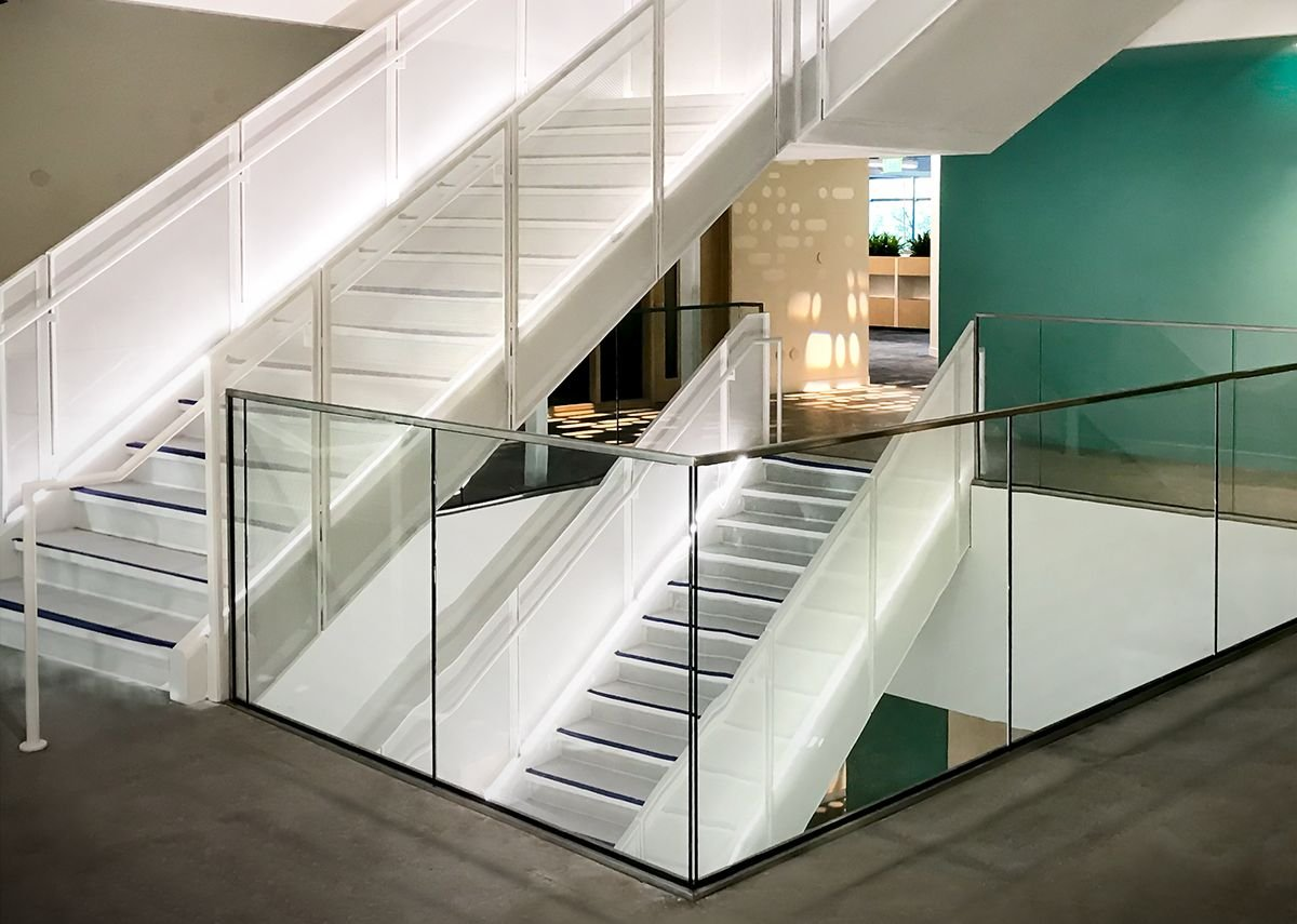HDI Railing Systems' Optik Shoe balustrade, Google Sunnyvale, California.