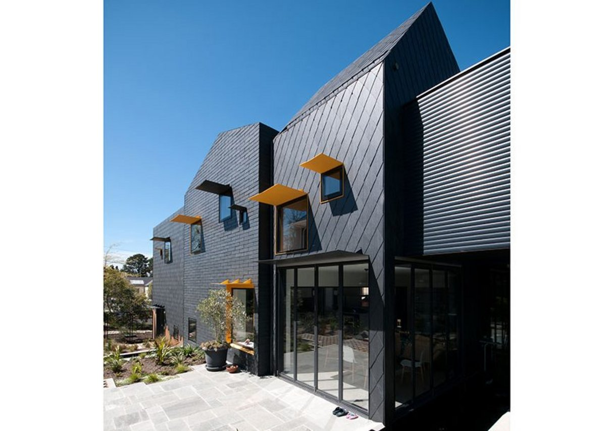 SSQ Del Carmen natural slate cladding at a residential home in Melbourne. Del Carmen slate is guaranteed for up to 100 years.