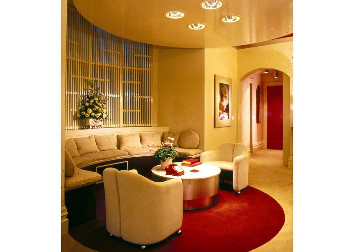 Opulent modernism – entrance hall of the Silman flat in Knightsbridge, London.