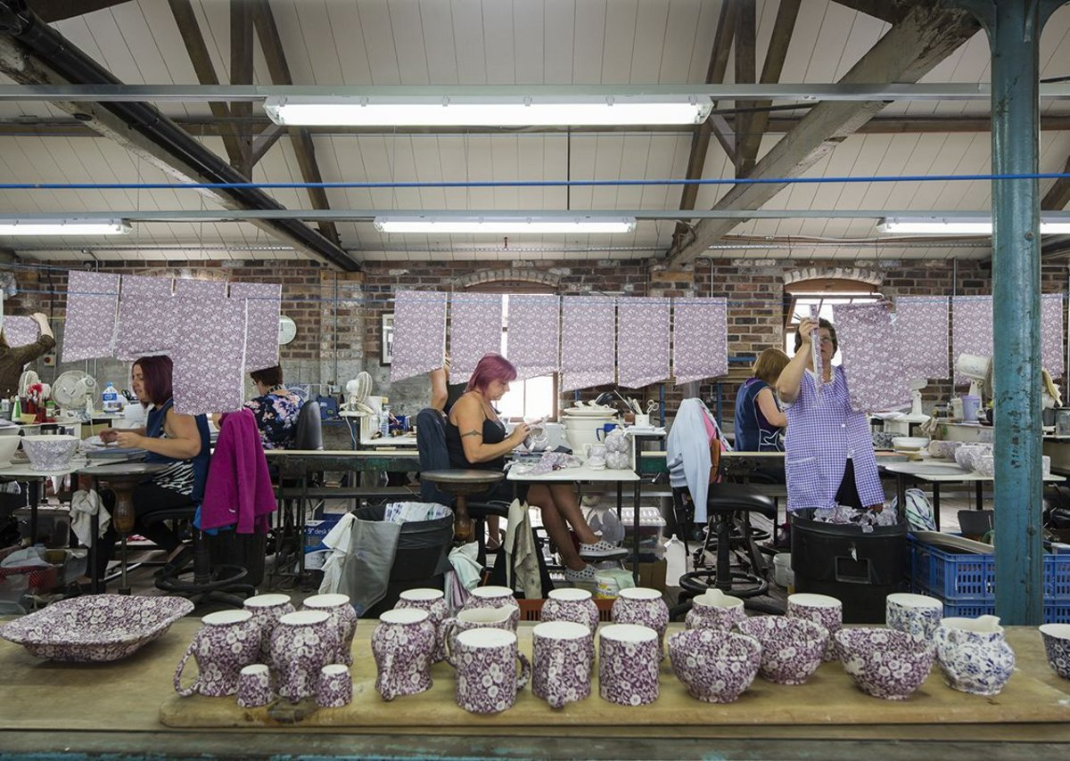 Middleport Pottery is now 50 percent occupied by the pottery which built the factory, Burleigh.