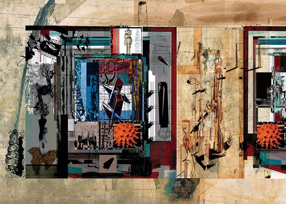 Editor Neil Spiller's Map of the Surrealist City, 2013.