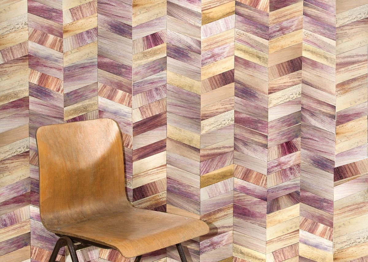Totomoxtle, a decorative veneer designed by Fernando Laposse from Mexican corn husks.