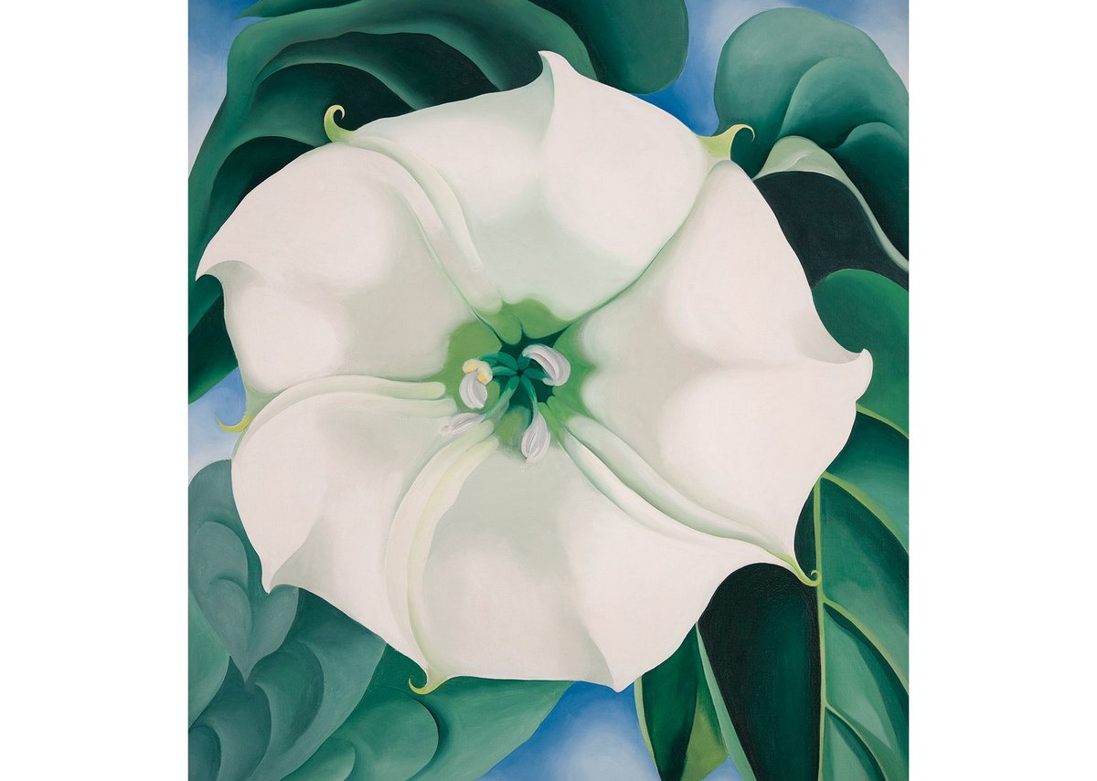 Jimson Weed/White Flower No. 1 by Georgia O'Keeffe,1932