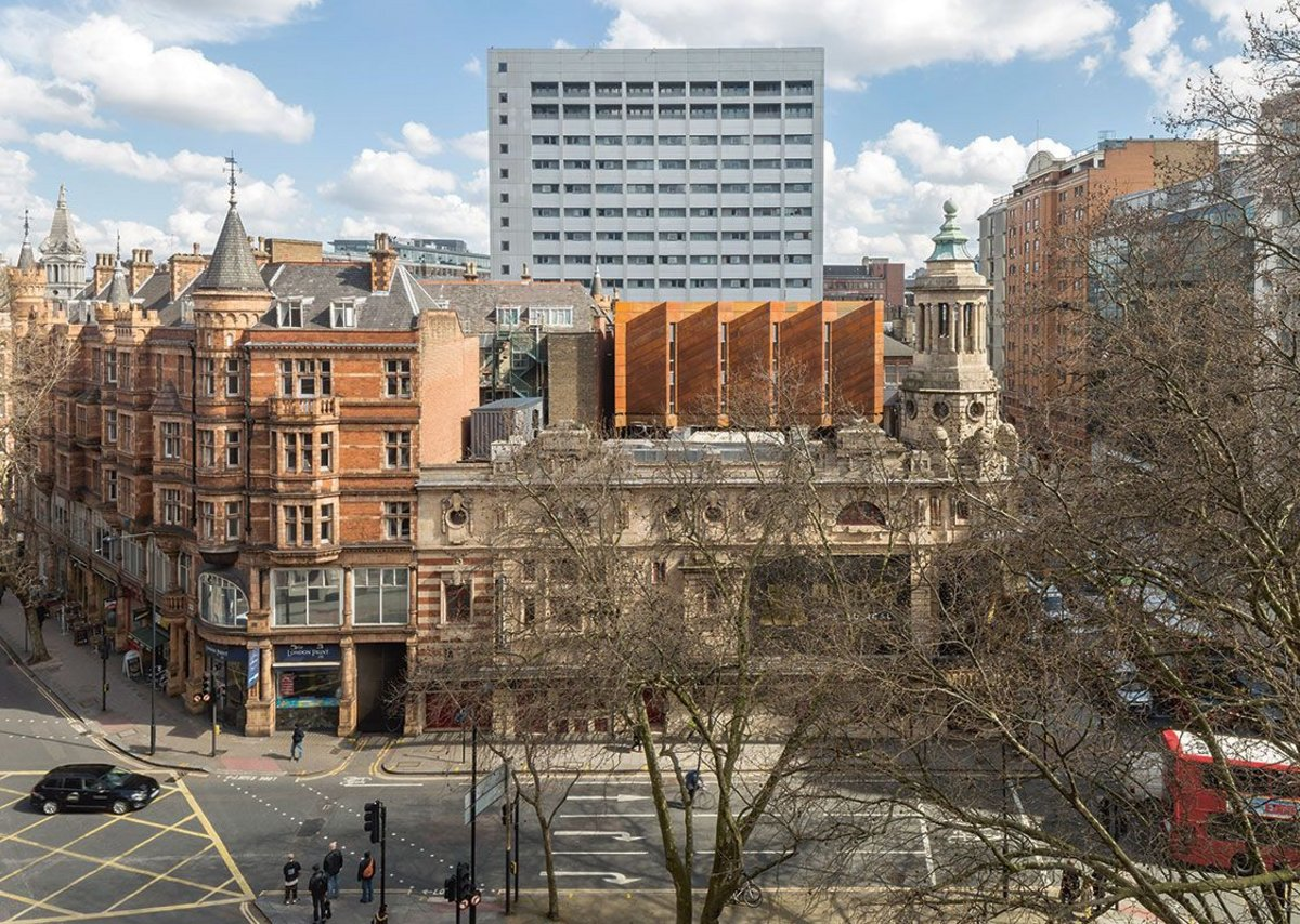Bennetts Associates' Shaftesbury Theatre in London's West End extended the Grade II listed Edwardian building.