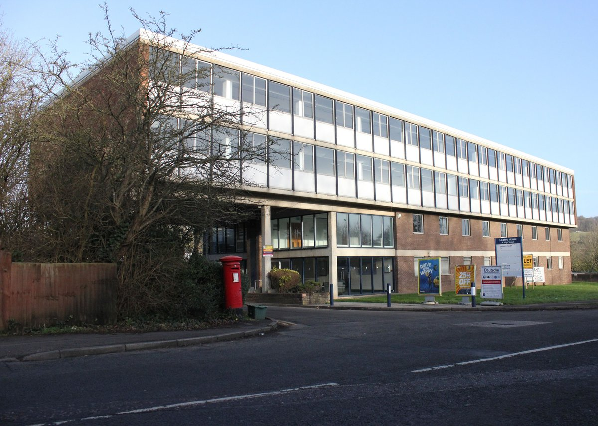 Coates House, Nailsea as office block before work takes place.