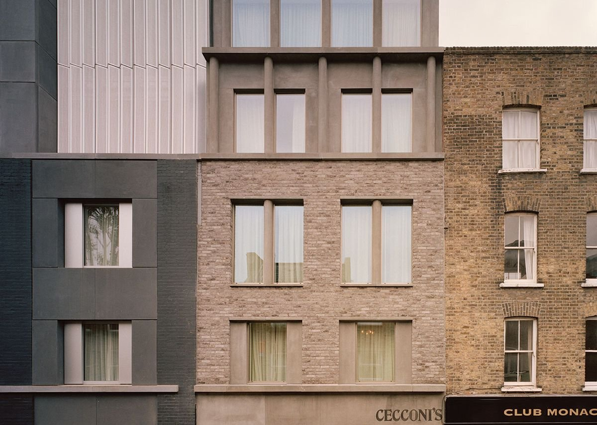 The second phase of Redchurch Street picks up the characteristics of both the practice's refurbished grey block and the neighbouring Georgian terrace.