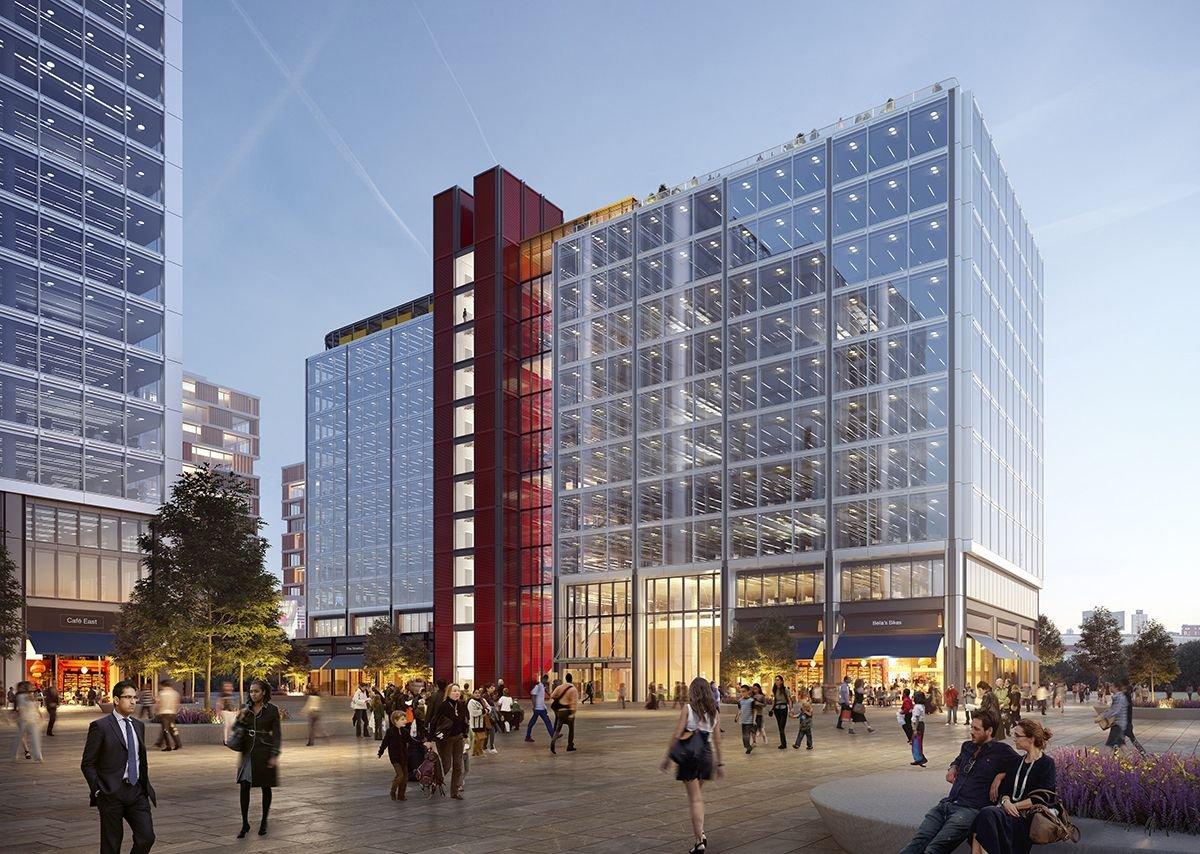 TfL Building designed by RSHP at The International Quarter Stratford.