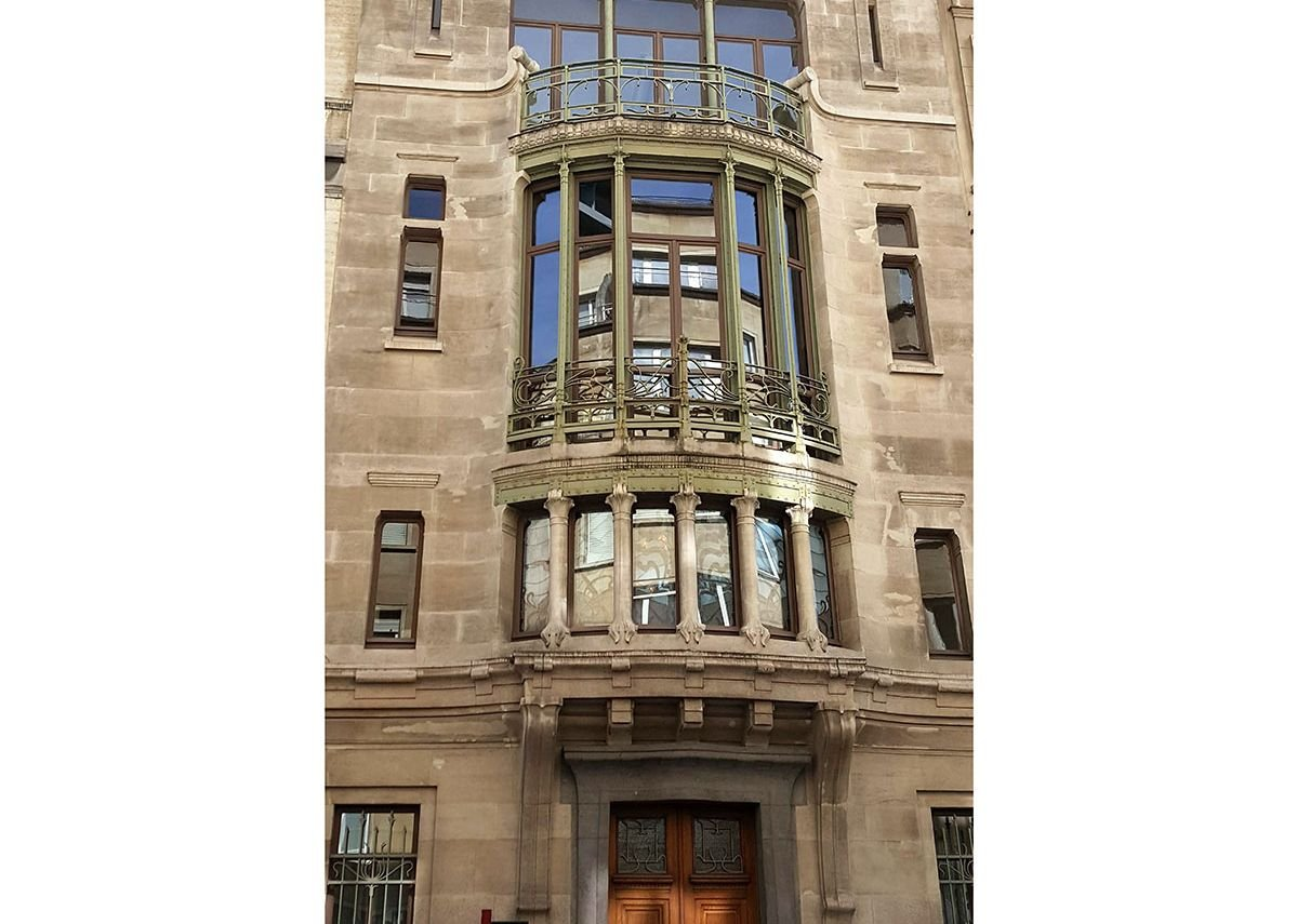 The exterior of Hôtel Tassel does not reveal the full art nouveau abundance inside.