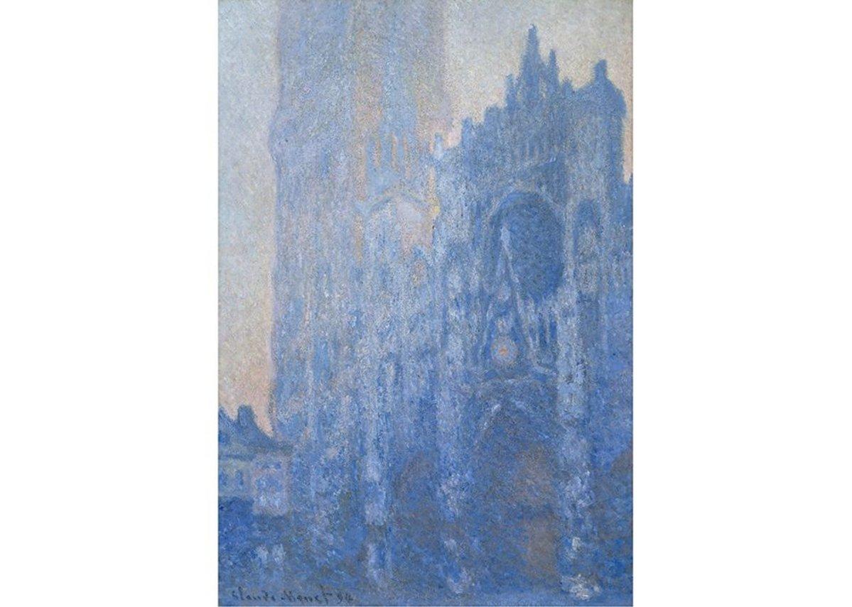 Claude Monet, Le Portail et la tour d'Albane à l'aube, 1893-4.