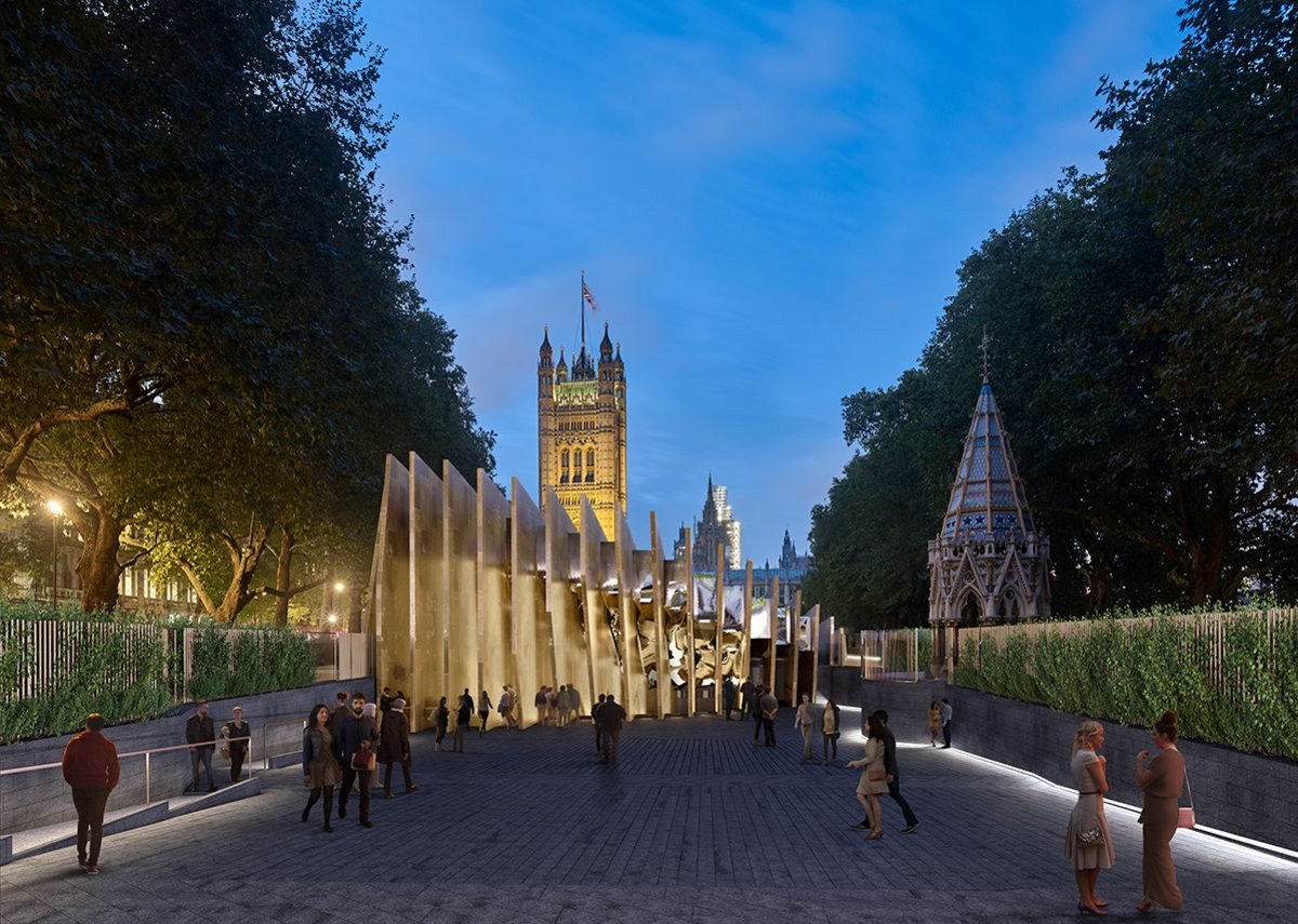 Image of the UK National Holocaust Memorial and Learning Centre proposed for London's Victoria Tower Gardens.