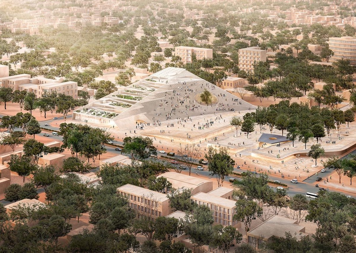 The National Assembly in Ouagadougou is a landscape building, designed to act as a public debating and viewing platform.