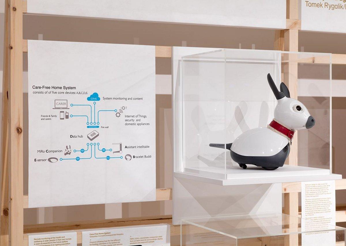 MiRO biomimetic robot companion, designed by Sebastian Conran in partnership with Consequential Robotics.