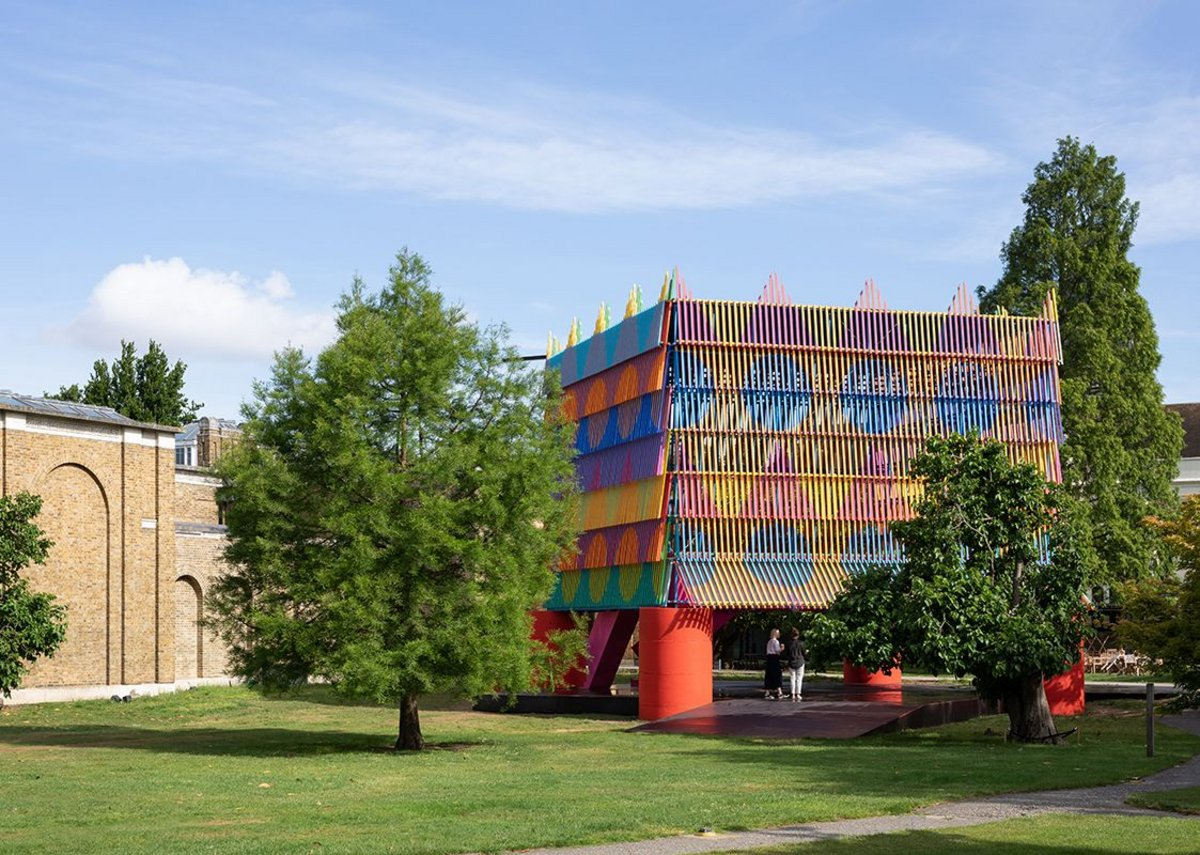 The Colour Palace, a summer pavilion designed by Pricegore and Yinka Ilori at the Dulwich Picture Gallery, 2019.