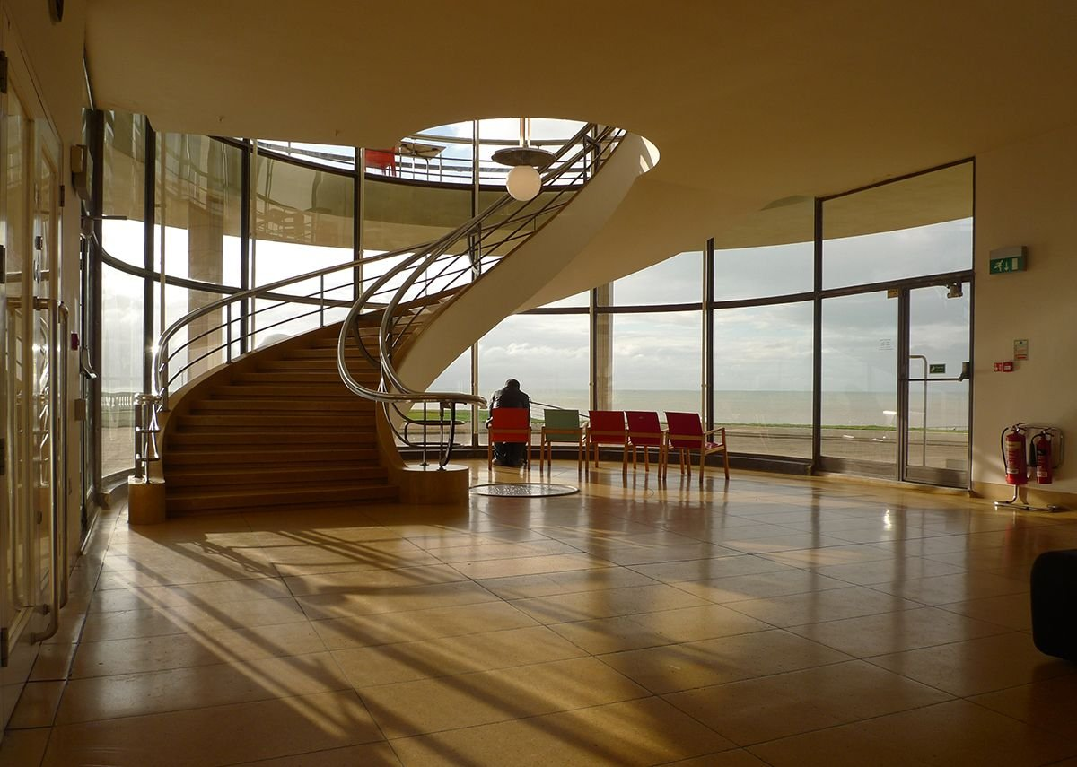 Erich Mendelsohn and Serge Chermayeff, De La Warr Pavilion, Bexhill-on-Sea 1935.  From the Insiders/Outsiders book published by Lund Humphries.