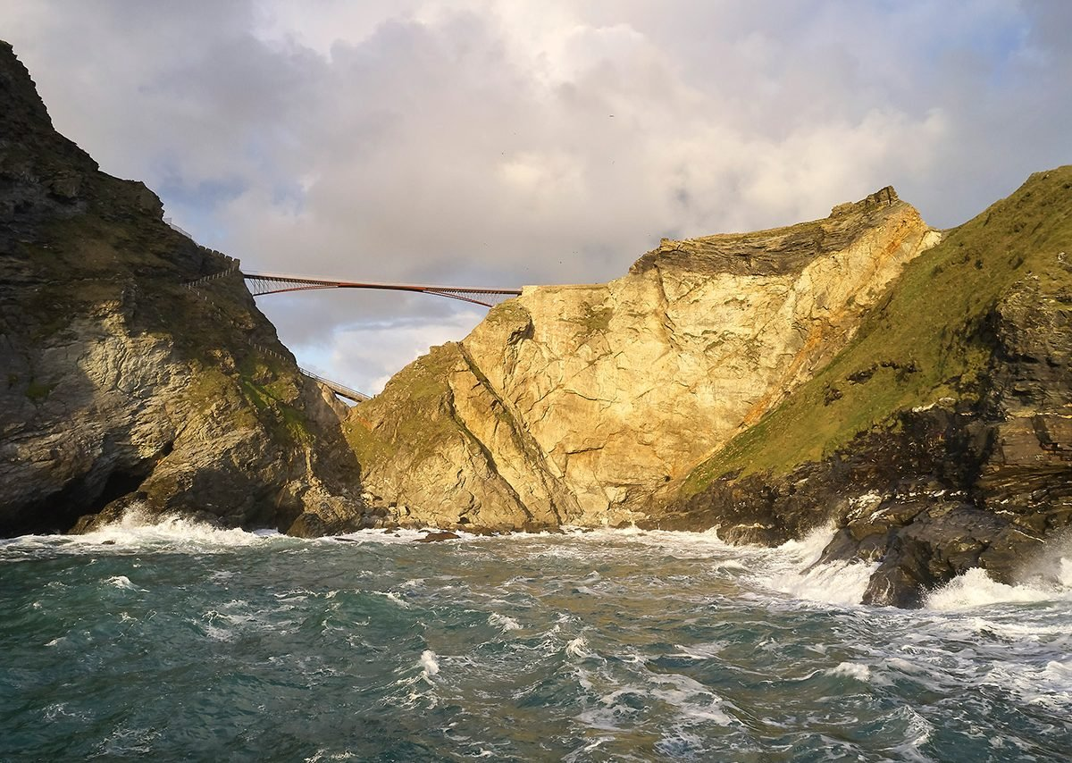 Tintagel Castle Footbridge.