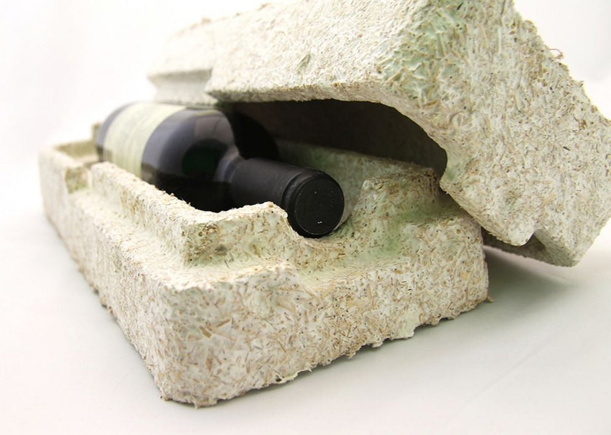 Ecovative's mushroom-based insulation product.