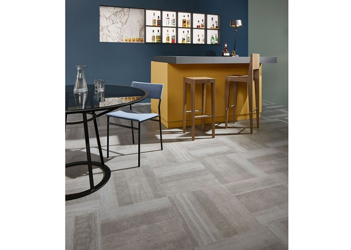 Forbo Allura Fusion vinyl tile flooring in sp62522 Fused Natural Concrete.