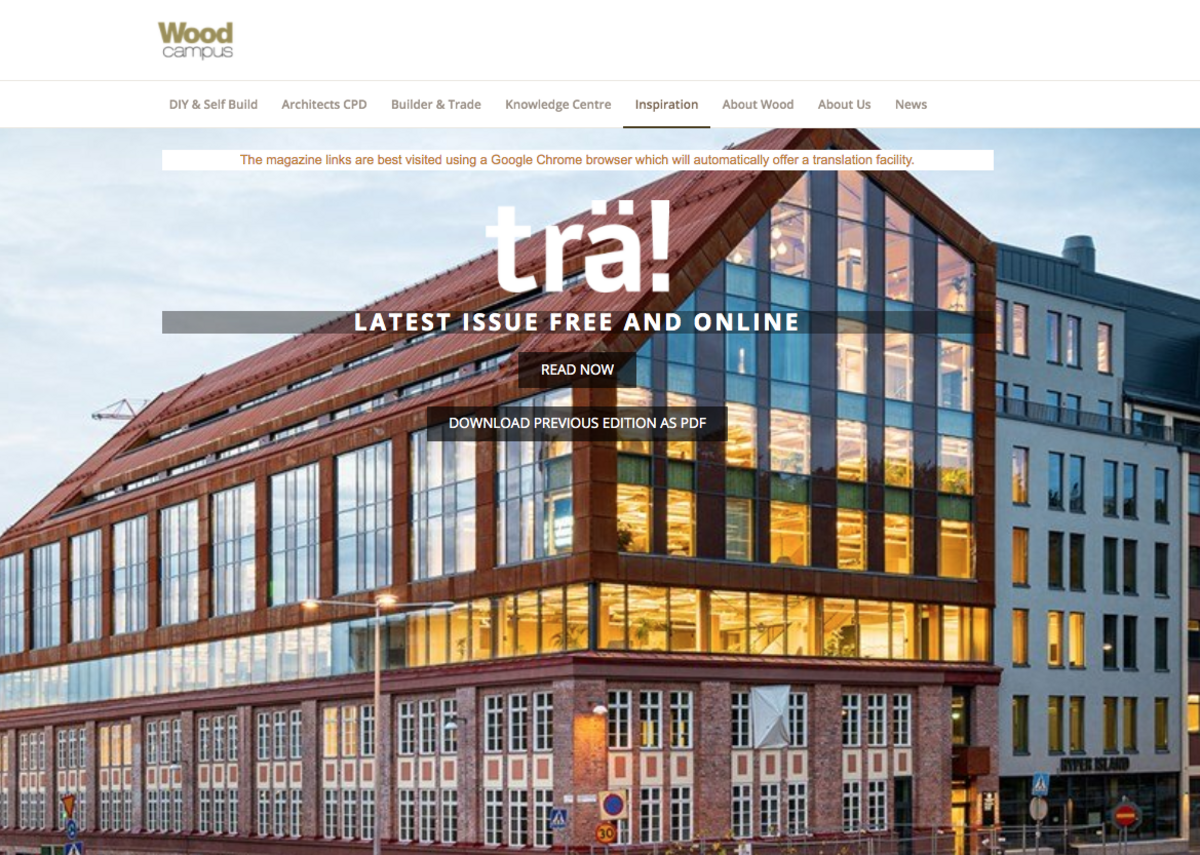Swedish Wood's online magazine Trä!