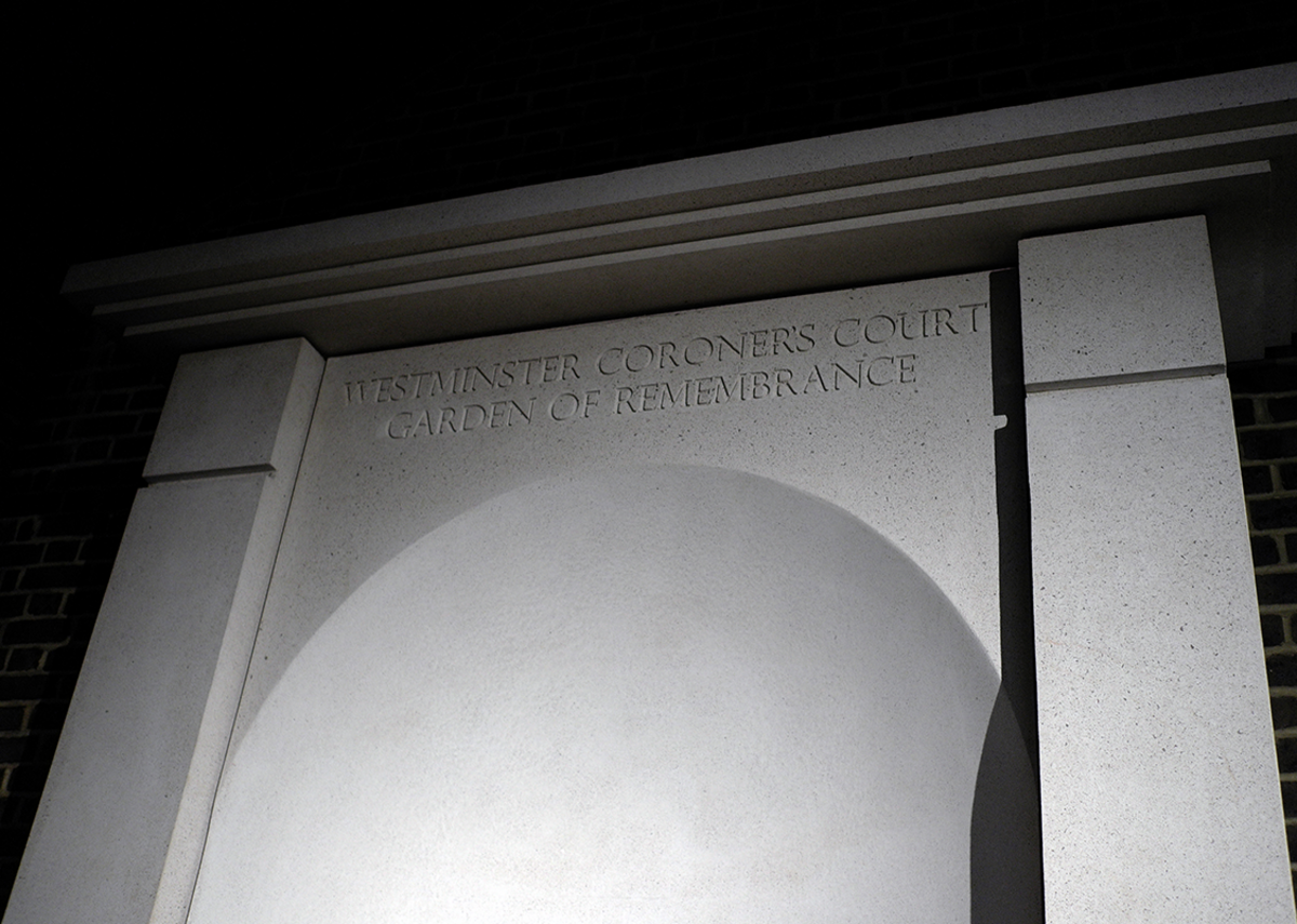 The niche with Eric Gill lettering creates a focal point.