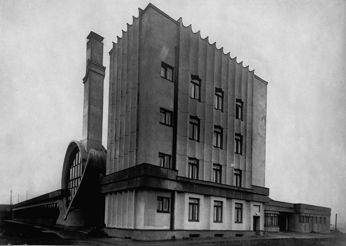 Alexander Vesnin, Victor Vesnin. Competition project for Narkomtiazhprom (People's Commissariat of Heavy Industry) building in Moscow, Red Square, 1934.