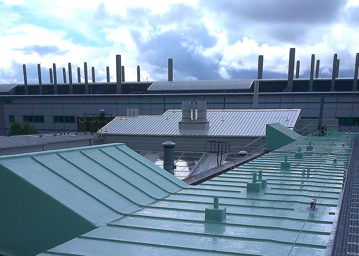 The new roof refurbishment at the Joseph Black Building
