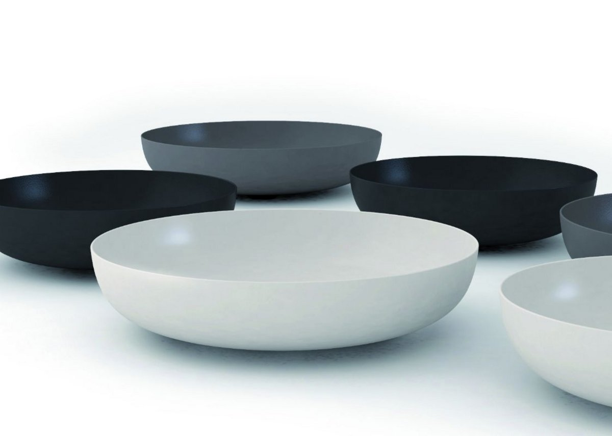 Award-winning Miena washbasin bowls in matt shades from Kaldewei's Coordinated Colours Collection.