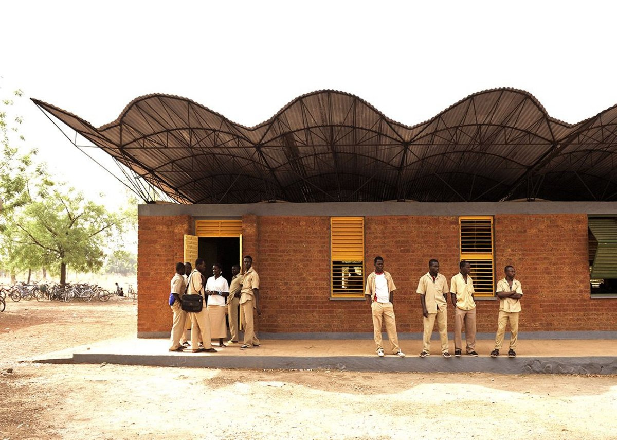 Dano Secondary School in Burkina Faso completed in 2007.