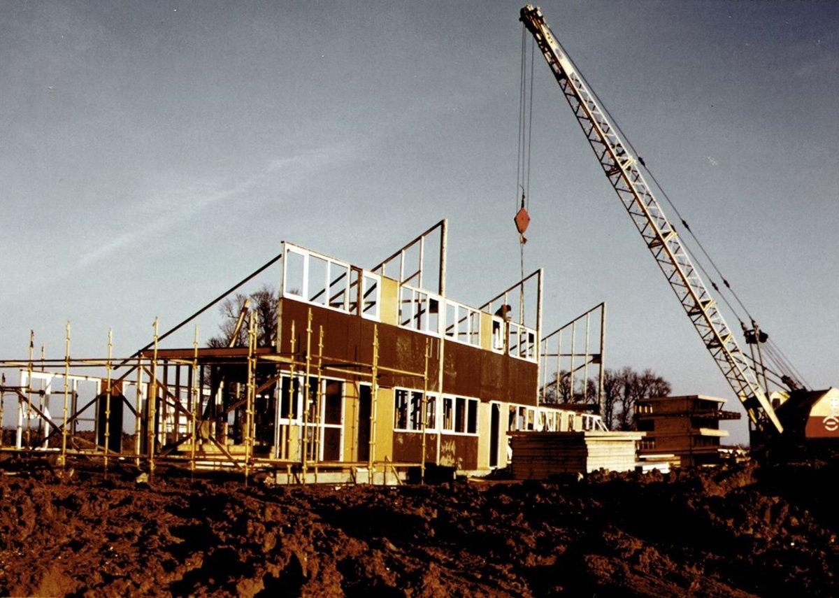 Housing under construction from Bradville.