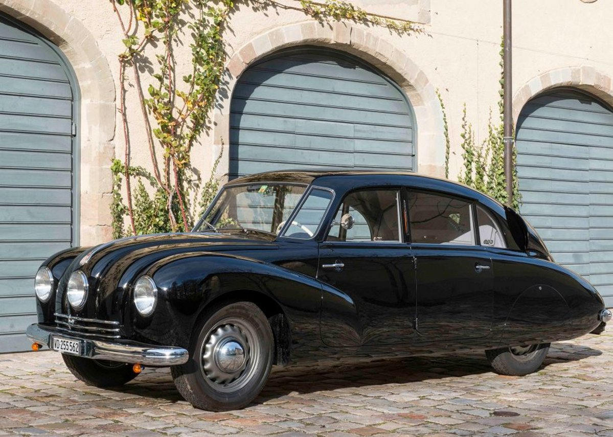 Norman Foster's 1948 Tatra T87, a real head-turner.