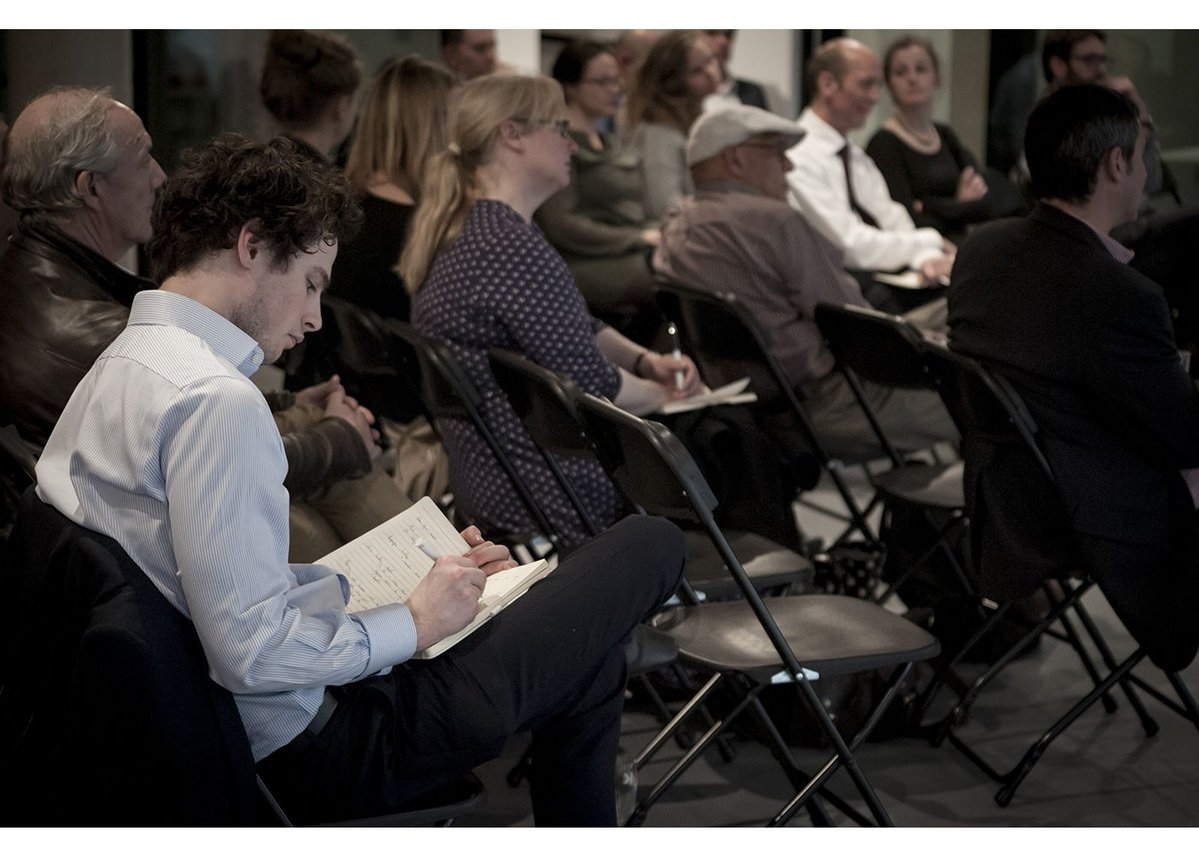 The audience at AluK's Social Infrastructure debate in Old Street, London.