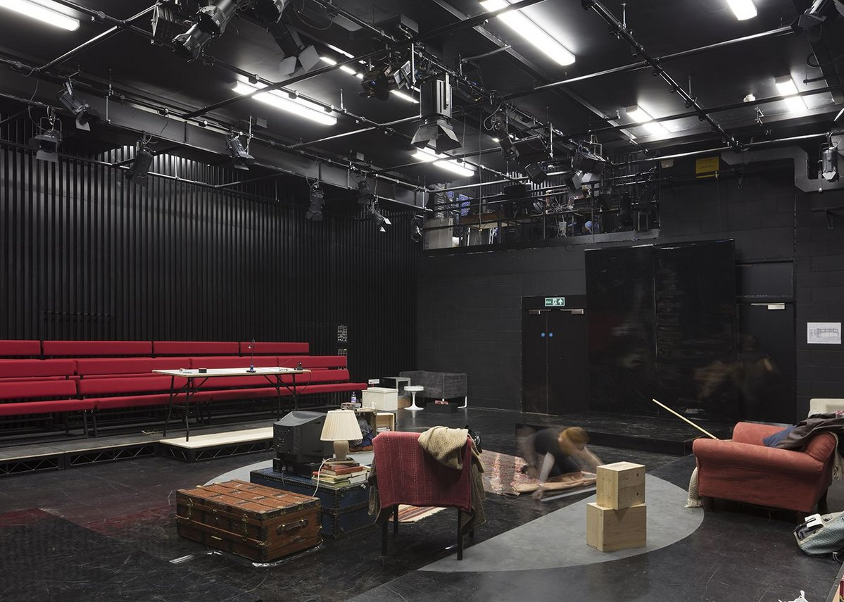 Studio theatre is a black box rehearsal and performance space.