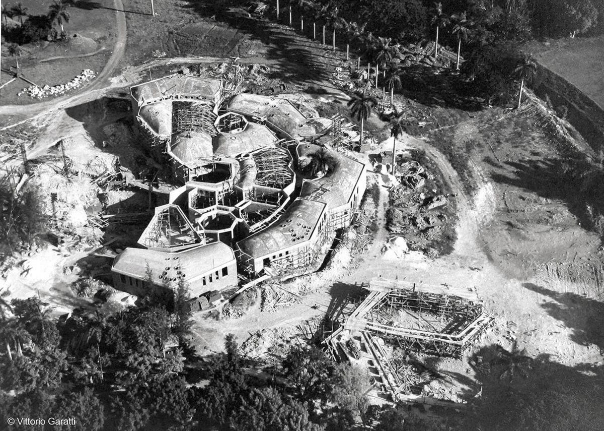 School of Dramatic Art - Aerial view of the school under construction