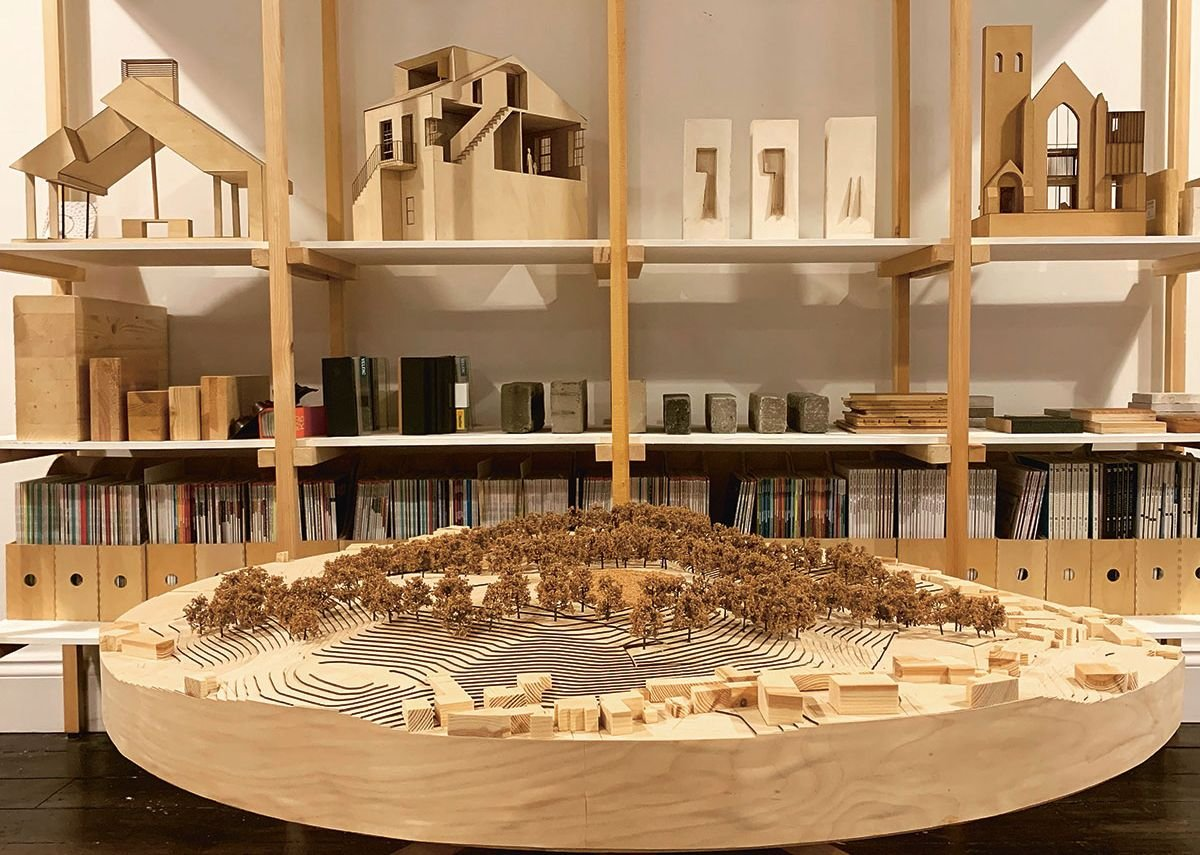 The office model of the Dunblane art gallery proposal.