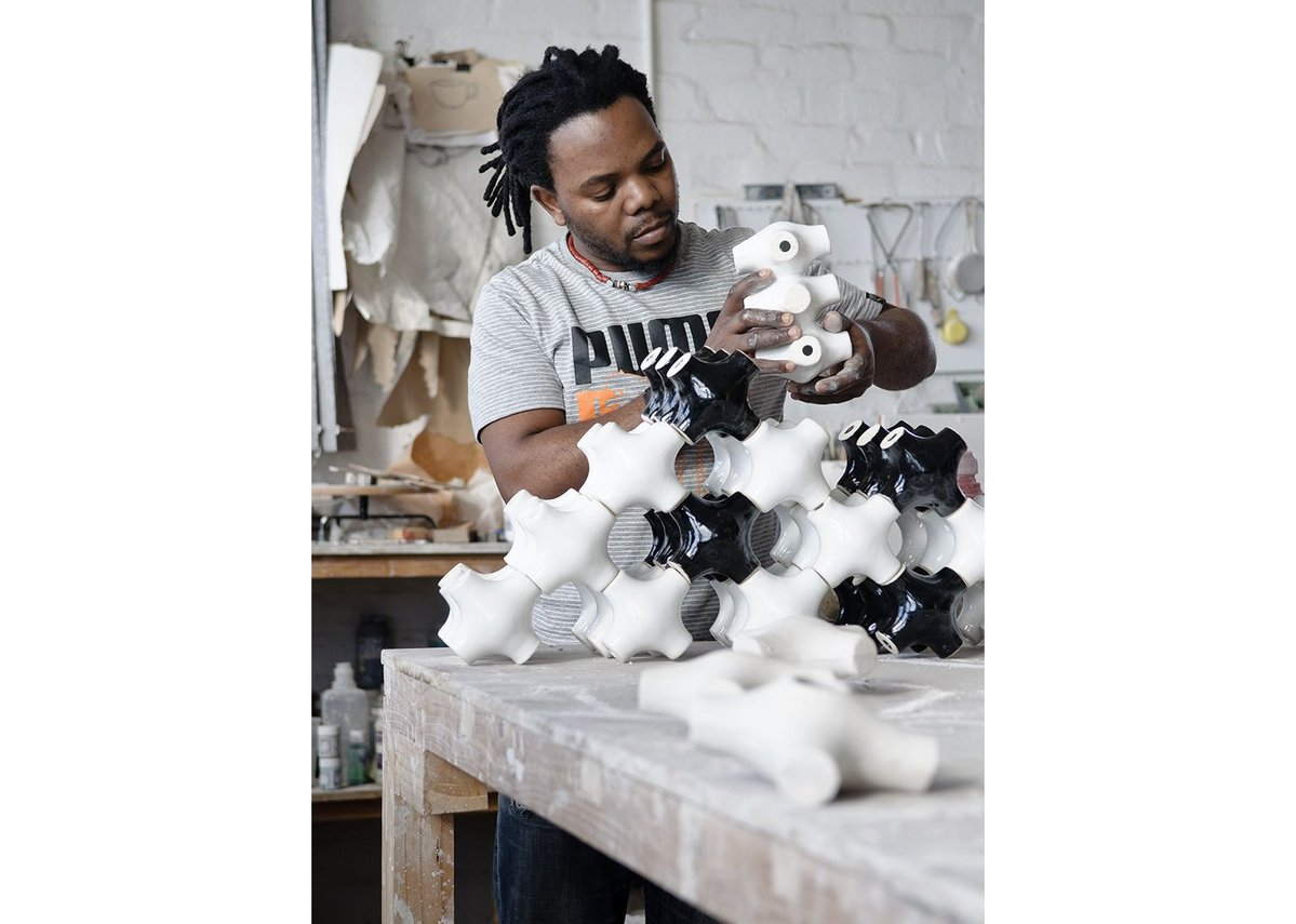 South African ceramacist Andile Dyalvane.