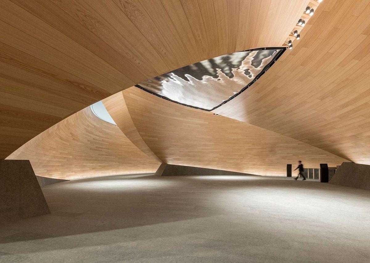 Bloomberg interior, the vortex.