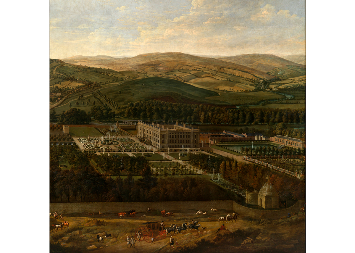 Jan Siberechts, View of Chatsworth, 1699-1700.