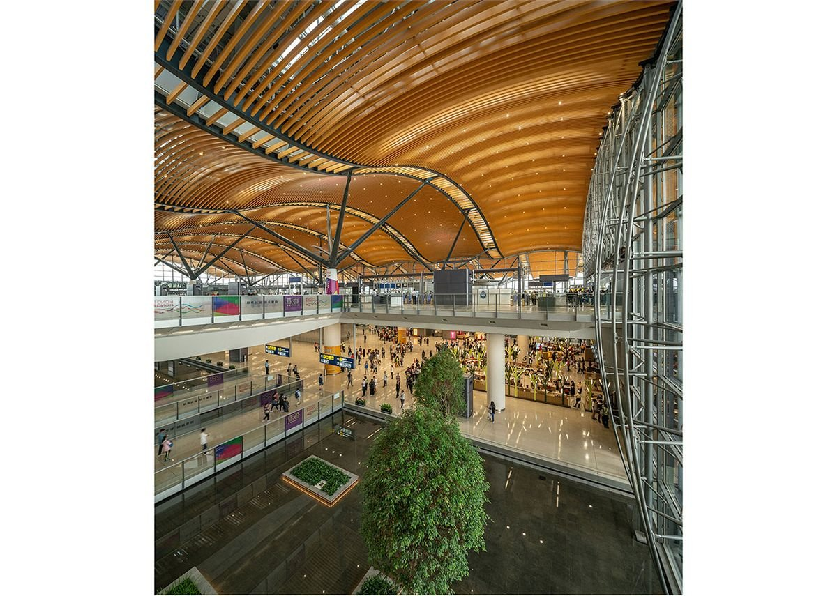Aedas in partnership with Rogers Stirk Harbour + Partners, Hong Kong-Zhuhai-Macao Bridge Hong Kong Port Passenger Clearance Building, 2018. The clearance building that opened last October provides the entry point into Hong Kong from the 42-kilometre bridge that links the cities of the Pearl River Delta.