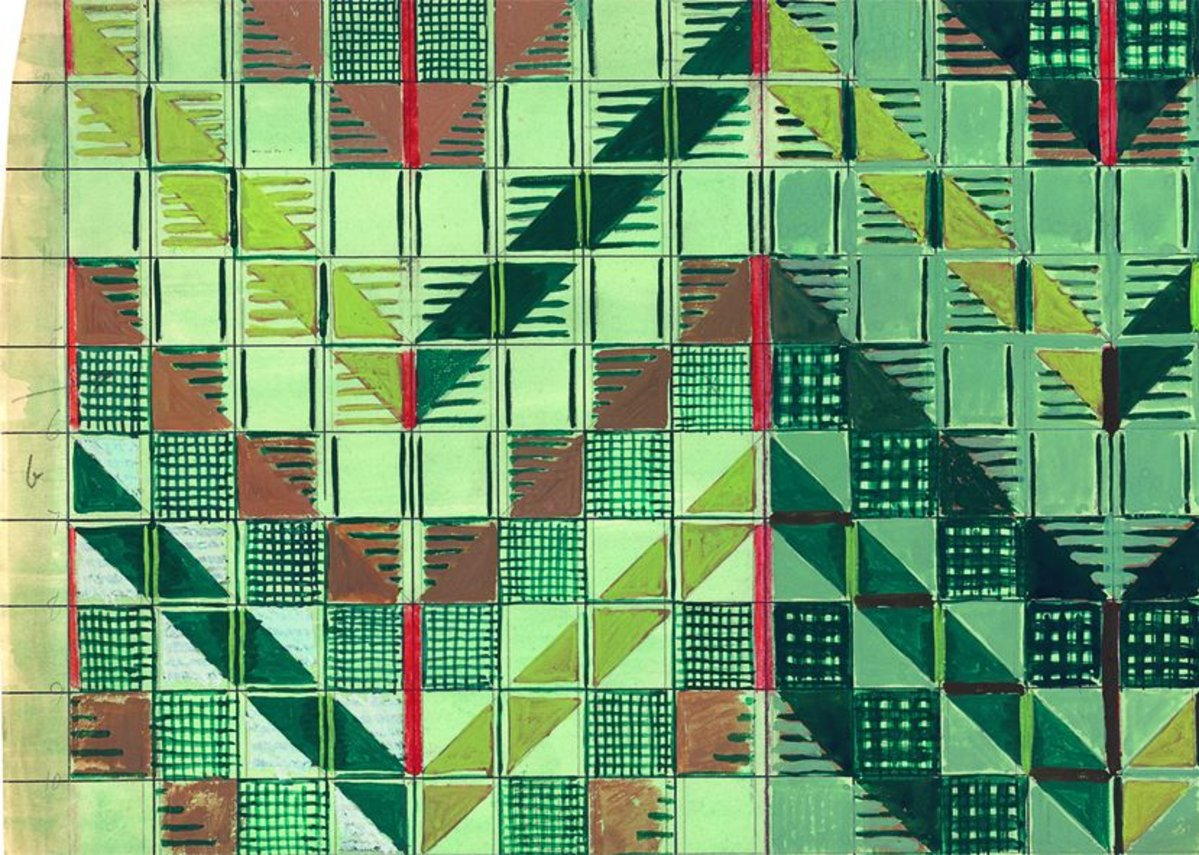 London underground moquette - Study for Chevron moquette.