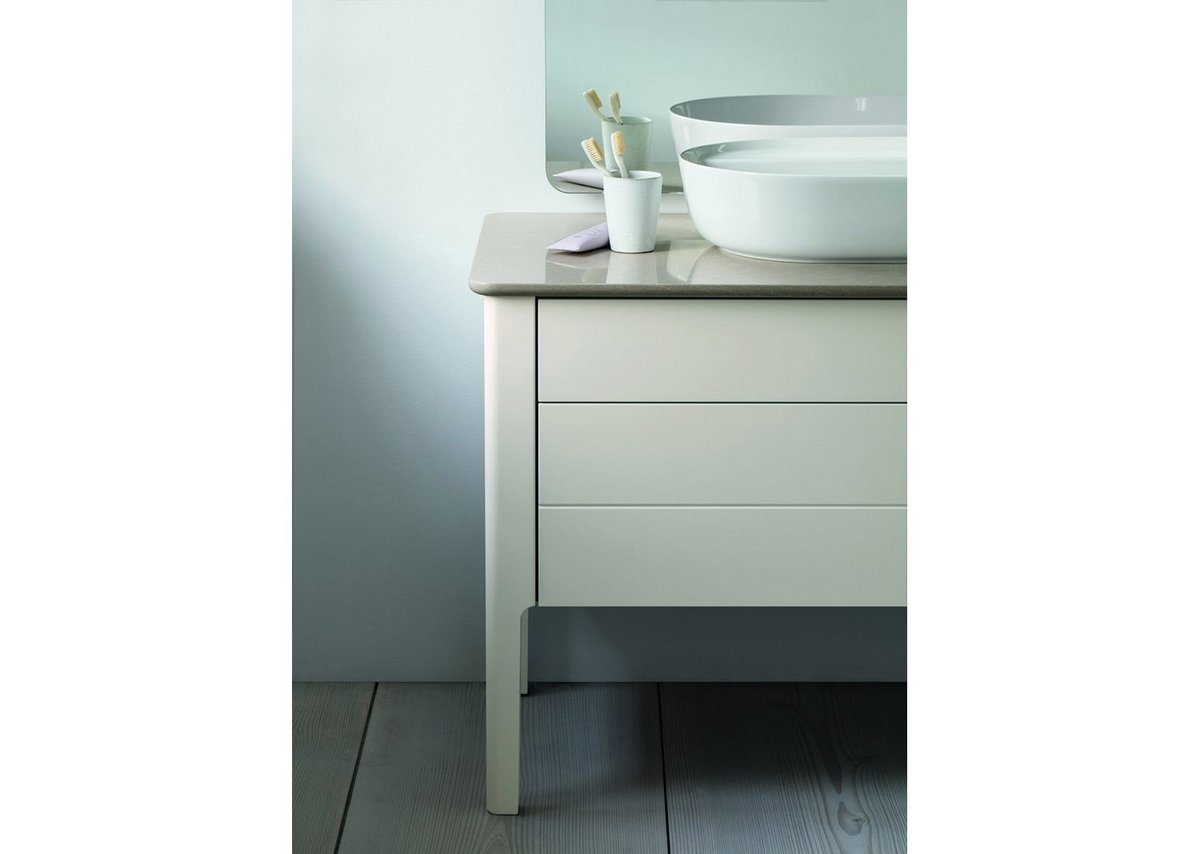 The washstand: Danish designer Cecilie Manz's Luv bathroom collection for Duravit.